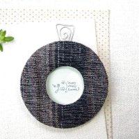 インテリア小物|丸いフォトフレーム アジアの織物 ジョムトンコットン