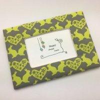 ポストカードフレーム|ウサギとハート