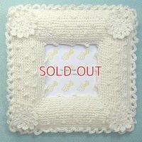 手編みホワイト